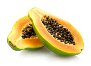 Papaya als Trockenfrucht